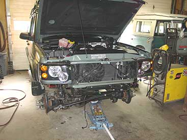 discovery 2 front bumper replacement